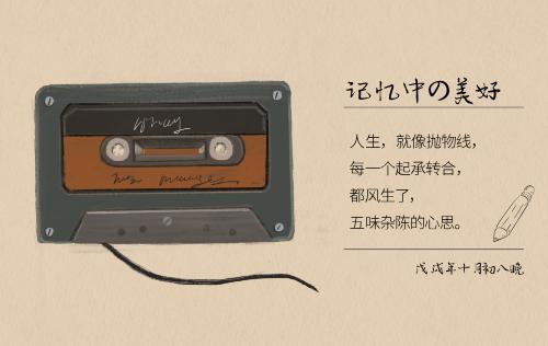 復古唱片明信片