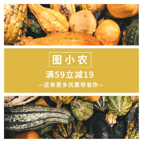 简约商务蔬菜优惠淘宝主图