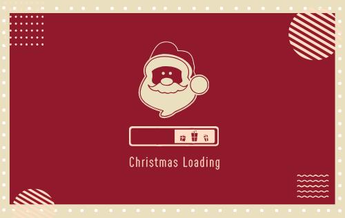 圣誕快樂明信片