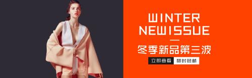 簡約冬季新品上新限時包郵banner