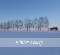 简约冬季雪景微博朋友圈封面