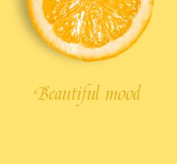 黄色橙子微信朋友圈封面