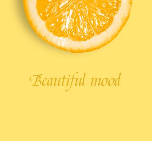 黃色橙子微信朋友圈封面