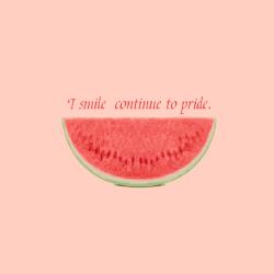 红色西瓜微笑励志手机微博封面