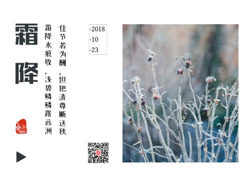中國風傳統二十四節氣霜降