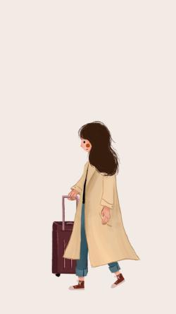 旅游女孩手机壁纸