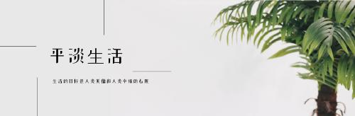 平淡生活微博封面