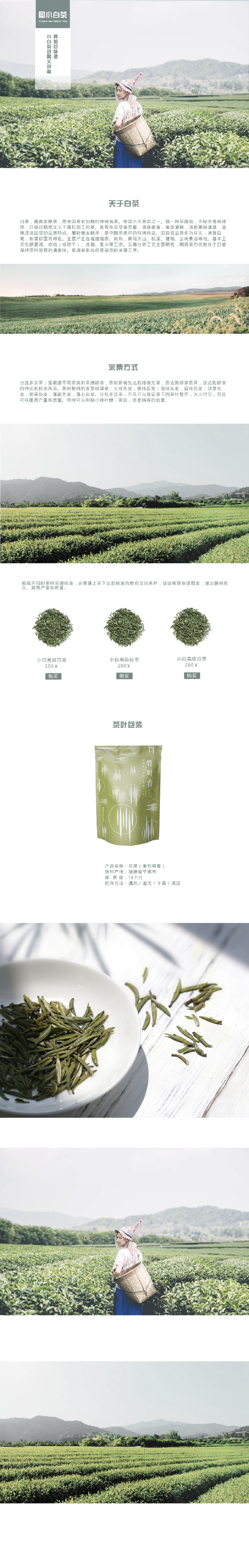 $低保風 清新茶葉淘寶詳情頁