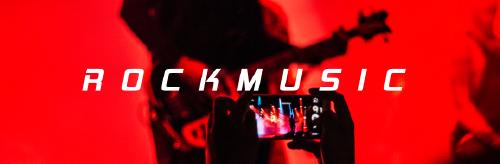 簡約紅色搖滾音樂微博封面