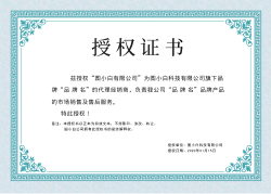 绿色大气通用授权证书模板