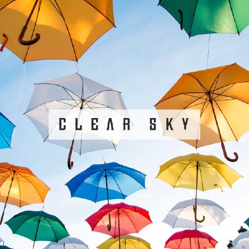 彩色雨傘手機微博封面