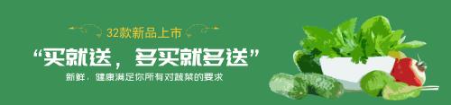 綠色蔬菜促銷淘寶banner
