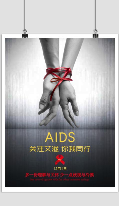 世界艾滋病日宣传海报