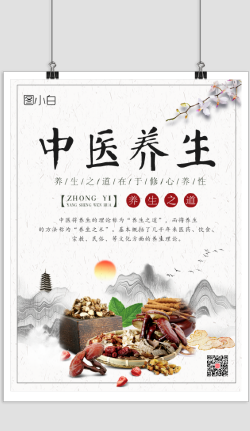 中国风中医养生文化海报