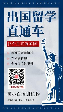留学教育课程培训海报