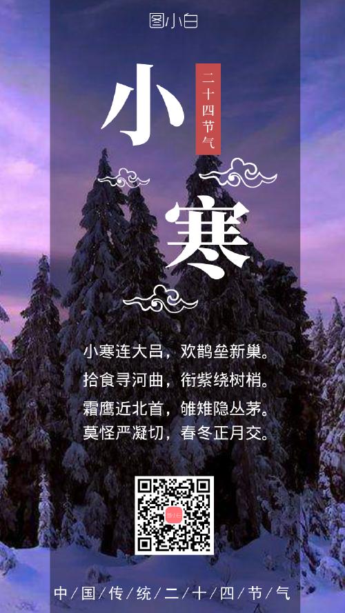 二十四节气小寒节气海报