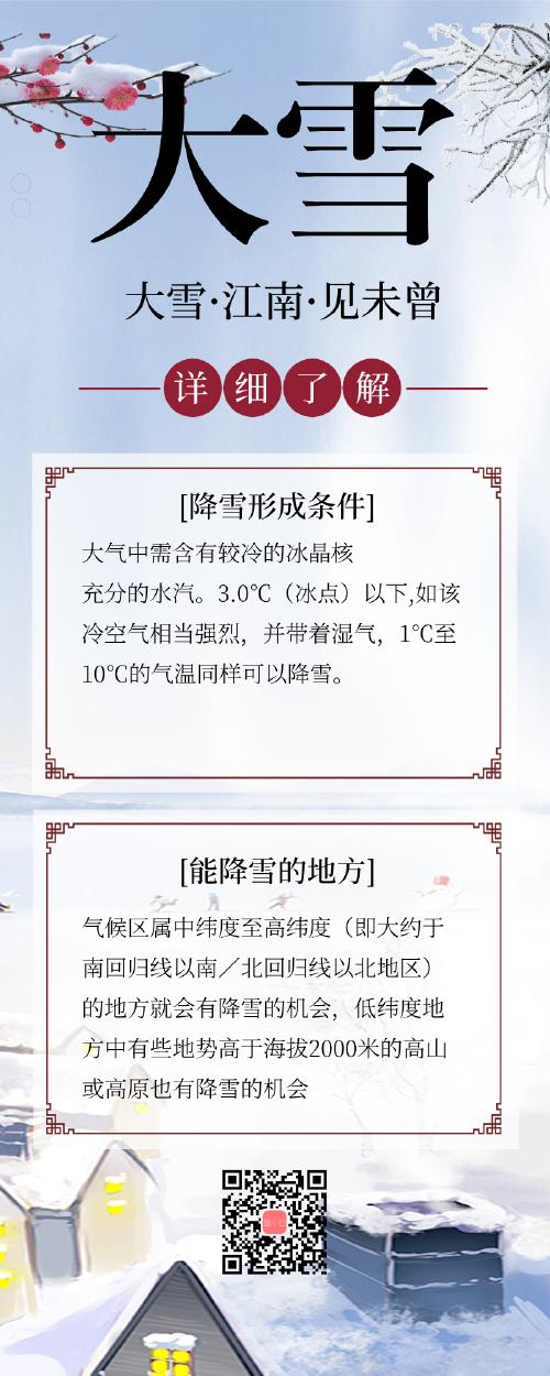 中国风大雪降雪小知识
