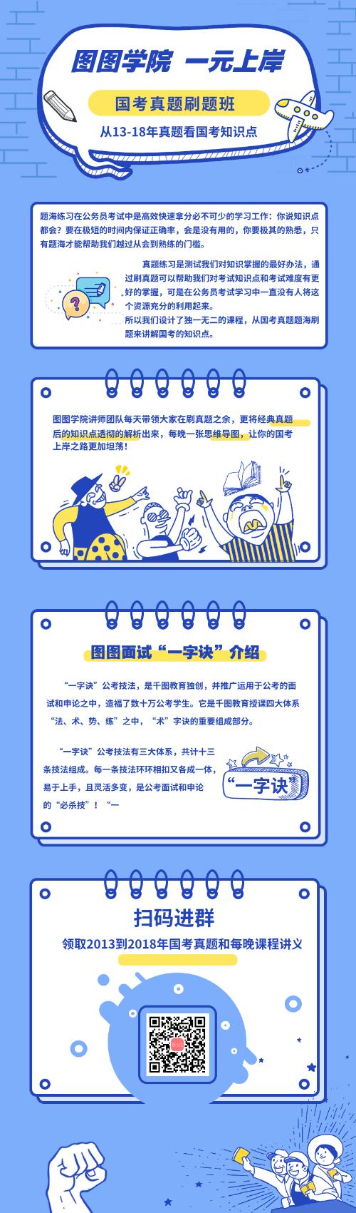 图图学院国考补习班营销长图
