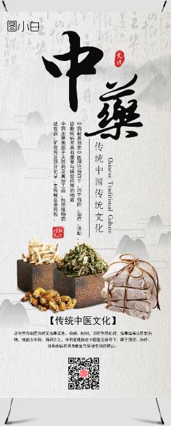 中国风中药传统文化宣传展架