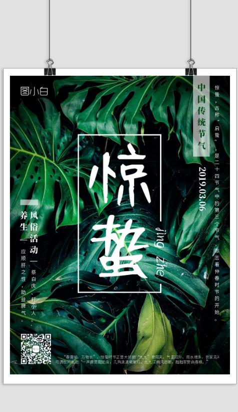 惊蛰传统二十四节气海报