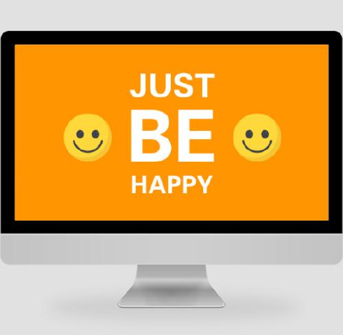 橙色簡約笑臉PC桌面壁紙