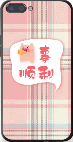 手绘猪事顺利iPhone7p/8p手机壳