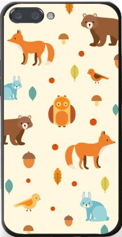 手绘卡通动物iPhone7p/8p手机壳