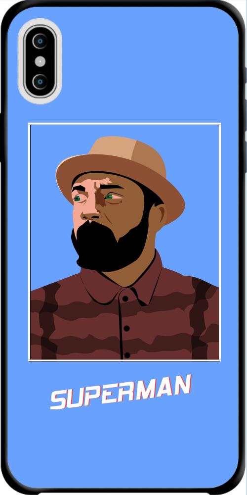 戴帽子的男人IphoneX/Xs 手機殼