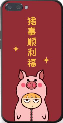 简约猪事顺利iPhone7p/8p手机壳