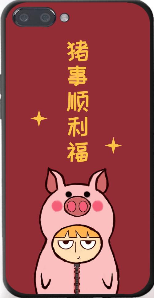 簡約豬事順利iPhone7p/8p手機殼
