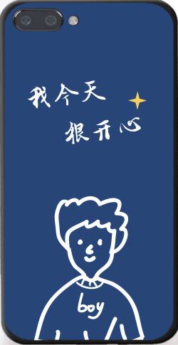 简约手绘男孩情侣苹果7p/8p手机壳