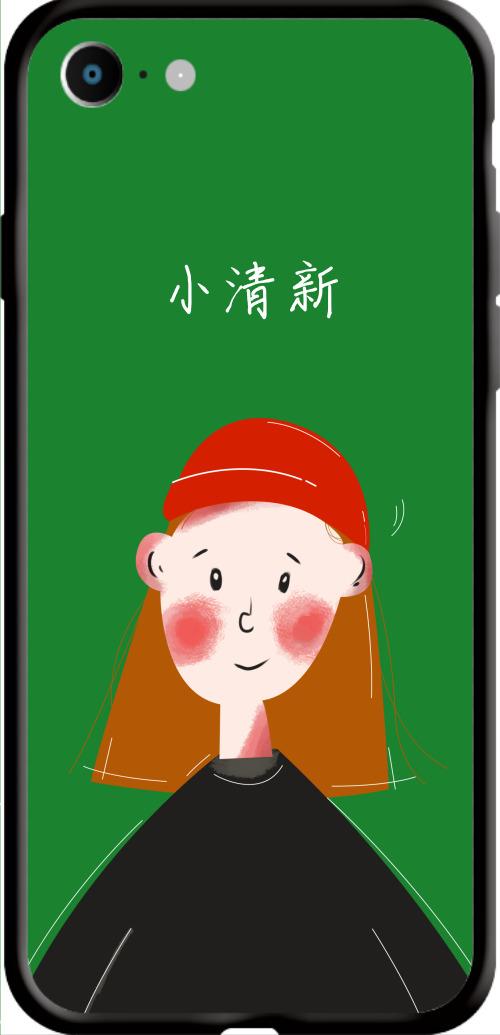 小清新女孩Iphone7/8 手機殼