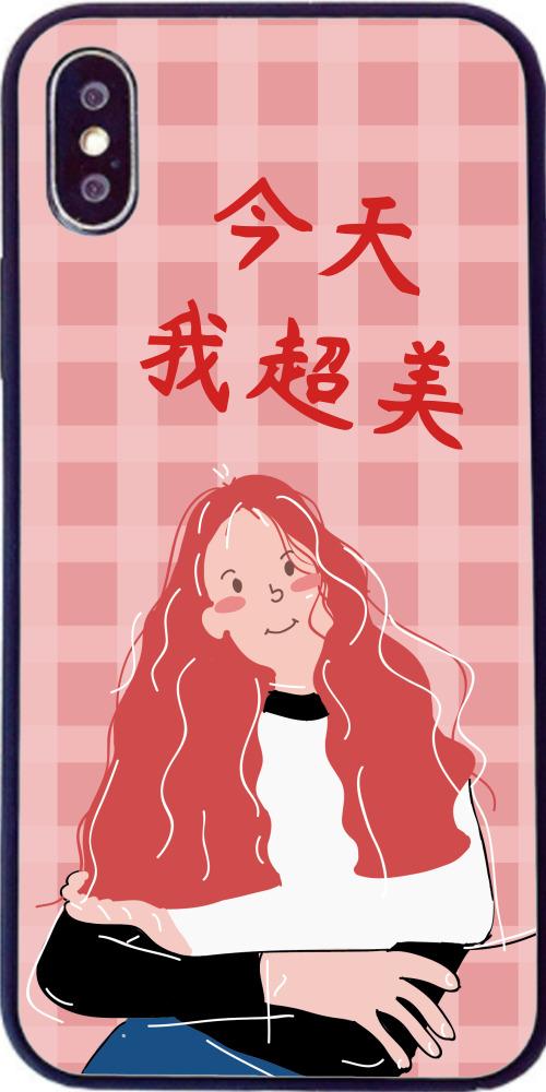 清新可愛女孩iPhone7p/8p手機殼