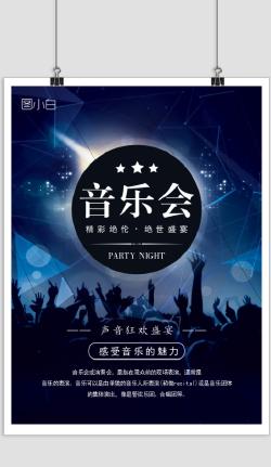 炫酷欧美风音乐会宣传海报