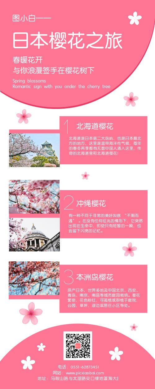 日本樱花之旅旅游宣传营销长图