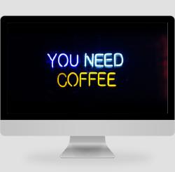 黑色简约文艺你需要咖啡PC桌面