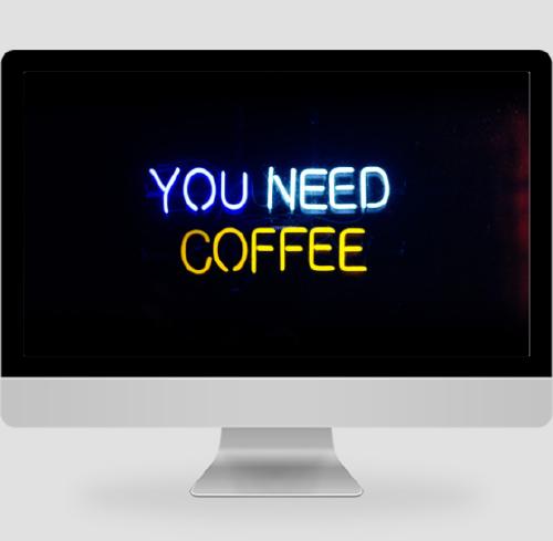 黑色簡約文藝你需要咖啡PC桌面