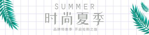 小清新夏季促銷電商淘寶通欄海報