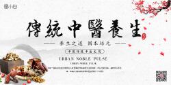 中国风中医养生文化展板