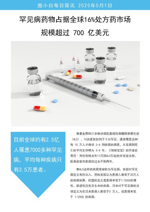 蓝色简约医疗日报简讯模版