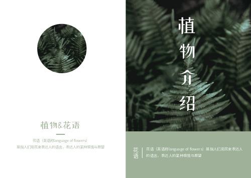 簡約綠色小清新植物花語相冊書