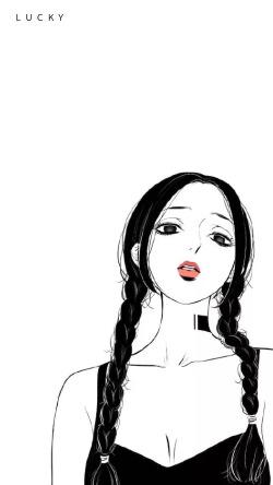 少女漫画手机锁屏壁纸
