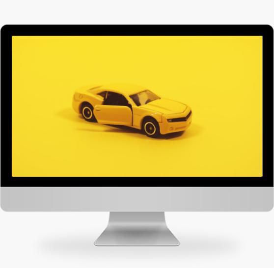 简约黄色汽车模型摄影pc桌面