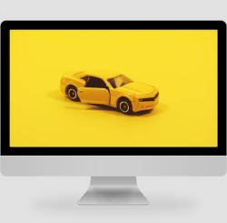 簡約黃色汽車模型攝影pc桌面
