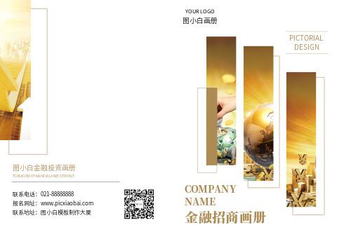 大气金融招商画册宣传册