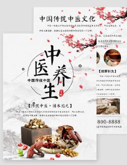 中国风中医文化宣传DM单
