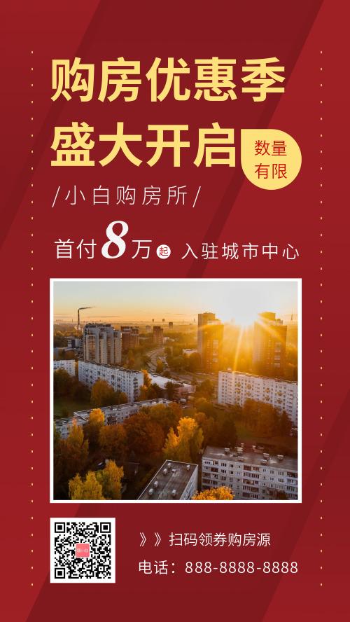 商业房地产卖房宣传海报