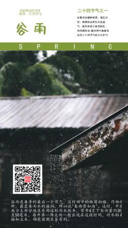 谷雨屋檐下节气微商海报