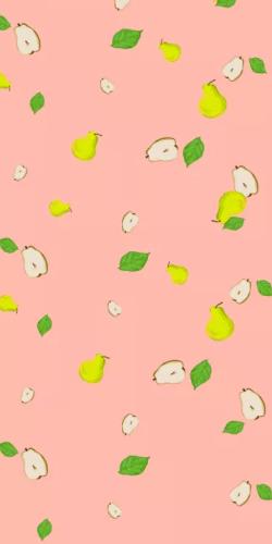 粉色可爱梨子手机壳印刷图片