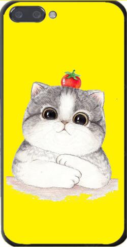 黄色背景可爱小猫咪手机壳